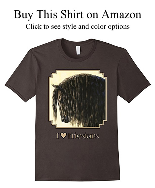 Black Friesian carriage horse shirts