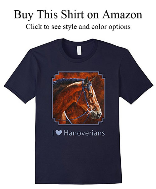 Hanoverian warmblood dressage horse t-shirt